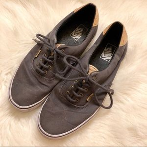 Vans men's gray cork sneakers